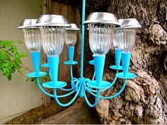 Hanging Solar Light Too Cute Add A Dollar Tree To Ceiling Fan Shade Diy Pinterest Gardens Trees And