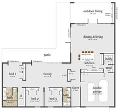 l shaped ranch style house plans | amazing house plans