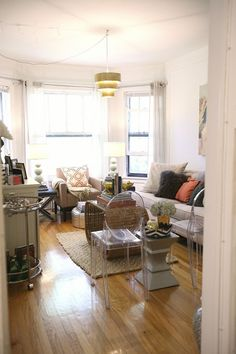 Khaki Tan Couch With Orange And Grey Accents IDEA Same