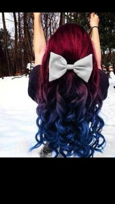1000 Images About Red And Blue Hair On Pinterest
