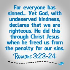 Image result for Romans 3:23-24