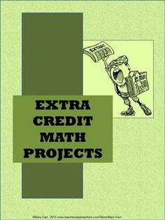 1000+ ideas about Extra Credit on Pinterest | Math Teacher ...