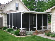 inexpensive screen porch ideas   Screen Enclosures & Glass ... on Cheap Patio Enclosure Ideas  id=90806