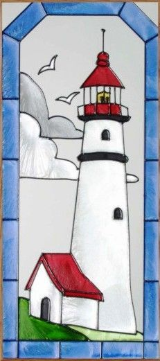 1000 Images About Stained Glass Lighthouses On Pinterest