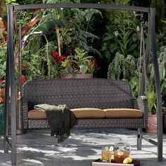 Agio International Fairview Woven Patio Swing Costco 3