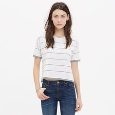 Image result for A Sporty Striped Jersey Hit Just Below the Belly
