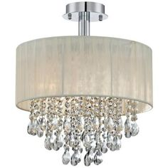 Indoor 5 Light Chrome Crystal Flush Mount Chandelier By The Lighting S And Home