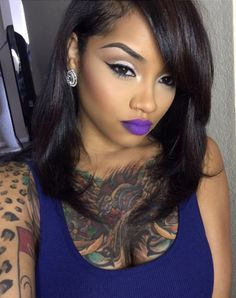 toya wright flawless makeup side parting weave hair style black blonde highlights african