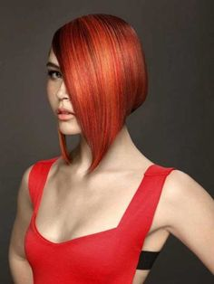 red bob hairstyles 2013