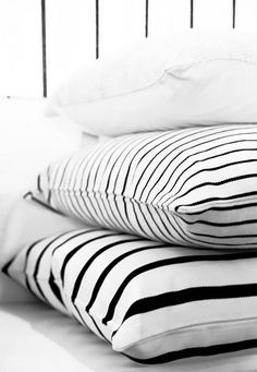 Black White Striped Pillow Cover Modern Outdoor