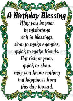 Irish Birthday Wish Irish Blessing Birthday Quotes Wishes One More B Day Wish Before The