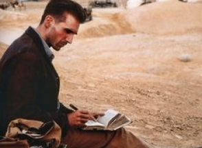 Image result for ralph fiennes the english patient writing in notebook