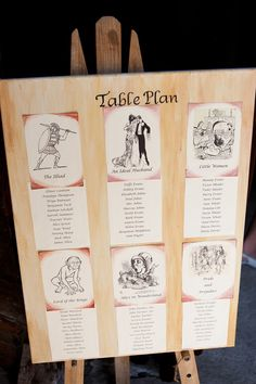 book theme table pla