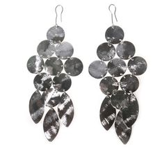 Chandelier Earrings In Rhodium