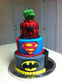 Marvel Cake Lego Marvel And Lego Superhero Cake On Pinterest