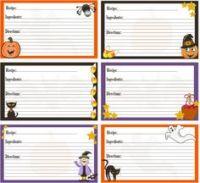 halloween recipe cards