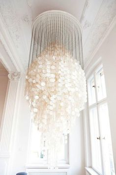 Breaking The Rules Of Scale Capiz Shell Chandelierwhite