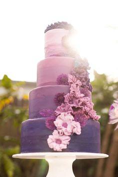 Lila Ombre Hochzeits