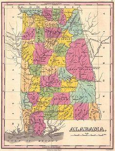 Alabama Lakes And Rivers Map Travel Sweet Home Alabama