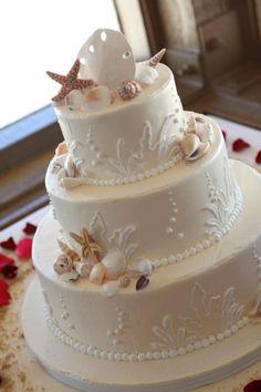 Beach Wedding Cake o