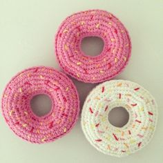 Crochet Donuts by @k
