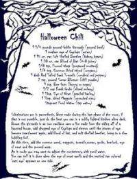 halloween recipe template