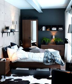 Samples Of Paint Colors For Small Bedrooms Dark Warm