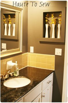 Working With Ugly Yellow Tile Fresh Paint Cleaning Grout Take Down Window Fixture For More