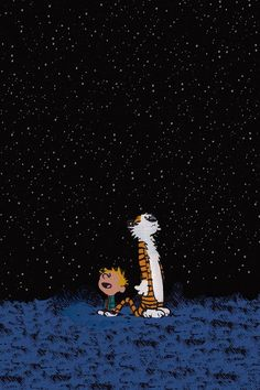 Calvin And Hobbes In The Starry Night IPhone 5s