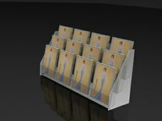 Diy greeting card holder poemsrom ss7a greeting card display acrylic rack triple tier m4hsunfo