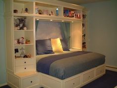 bed surround with wardrobe for the home pinterest on innovative ideas for useful beds with storages how to declutter your bedroom id=35242