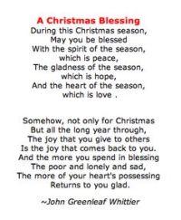 it - Christmas Blessing Prayer