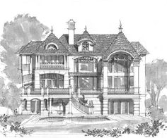 Front Elevation Of House SKETCH Castles And Mansions