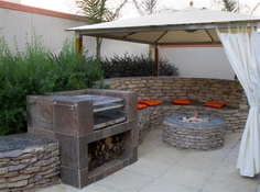 Braai Ideas on Pinterest | Built Ins, Built In Bbq and ... on Modern Boma Ideas id=78751