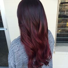 Dark Burgundy Brown Hair With Balayage