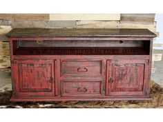 Red Distressed Furniture On Pinterest Distressed