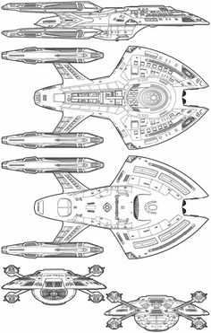 Technical schematic of Novaclass starship Star Trek