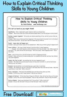 1000+ images about Critical Thinking Skills on Pinterest ...