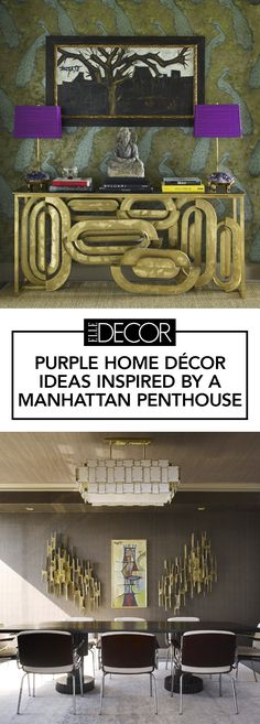 Purple home decor is