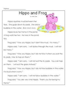 Free printable second grade reading comprehension ...
