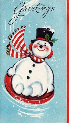 Details About 885 50s Mid Century Glittered Snowman