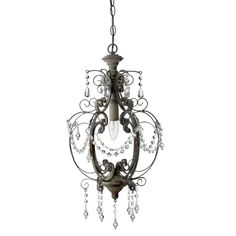 R Antique Brown Small Chandelier