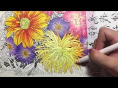 Spring Flower Coloring With Colored Pencils YouTube