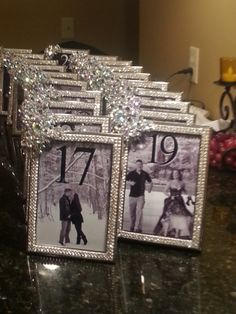 1000 Images About Table Number Card Ideas On Pinterest
