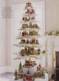 1000 Images About Christmas Village Trees On Pinterest