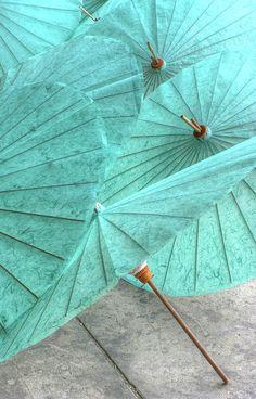 Aquamarine Umbrellas