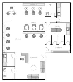 awesome beauty salon floor plan design layout 1400 square foot nails designs for office