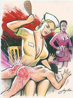 lee warner spanking art