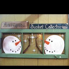 Pot Lids Snowman And Pots On Pinterest