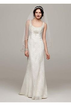 Jewel Tulle Wedding Dress with Venise Lace Detail Style MK3724     Jewel Tulle Wedding Dress with Venise Lace Detail Style MK3724  Champagne   4 David s Bridal http   www amazon com dp B00SL8A5VC ref cm sw r pi dp 4